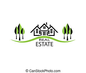 Real estate. Vector illustration house on white background