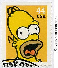 USA - 2009: shows Homer Jay Simpson - USA - CIRCA 2009: A...