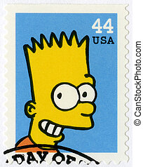 "USA - 2009: shows Bartholomew JoJo ""Bart"" Simpson - USA -..."