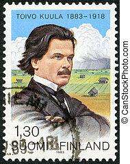 FINLAND - CIRCA 1983: A stamp printed in Finland shows Toivo...