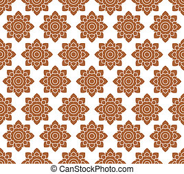 Line thai art pattern illustration