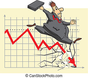 unhappy stock market investor - stock market fall, go...