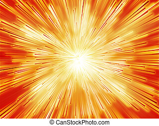 Burst streaks of light - Central bursting explosion of...
