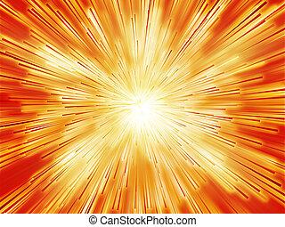 Burst streaks of light - Central bursting explosion of...