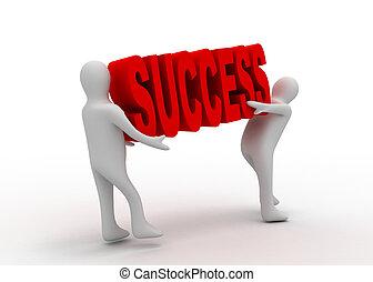 success teamwork concept