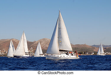 Sailing Boats Regatta in Turkey
