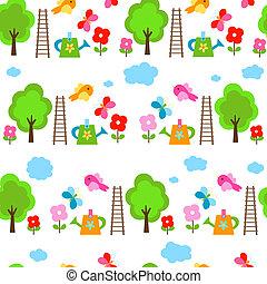 garden seamless background