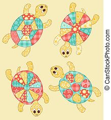 Set of turtles - Childrens application Set of turtles...