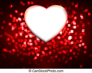 Red heart frame. EPS 8