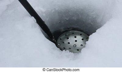 ice fishing scoop
