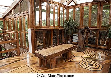 typical house in bamboo - Handcrafted furniture typical of a...