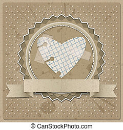 Paper Heart - Valentine's background or card with paper...