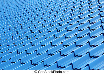 Modern and stylish roof top surface made of plastic and...