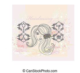 hairdressing salon poster