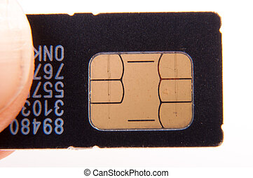 Sim card - An image of sim card isolated on white