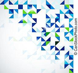 Blue green modern geometric design template - Blue modern...