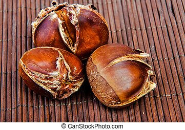Roasted chestnut - An image of roasted chestnut marron...