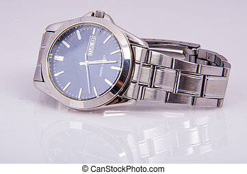 Mens wristwacth - An image of men's wristwatch isolated on...