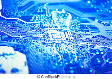Motherboard - An image of macro shoots of motherboard