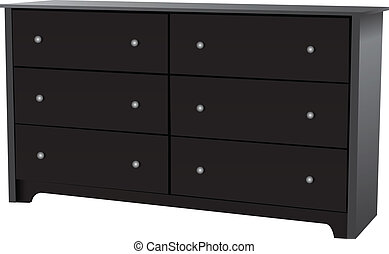 6-Drawer Dresser - Dresser with six drawers for bedrooms...
