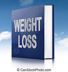 Weight loss concept. - Illustration depicting a book with a...