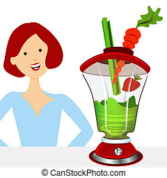 Healthy Smoothies - An image of a woman making a healthy...