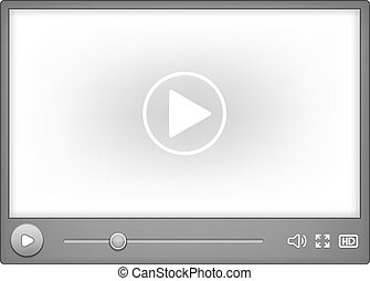 Video player for web - Vector Video player for web element...