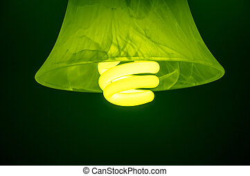 Light bulb - An image of light buln on black background