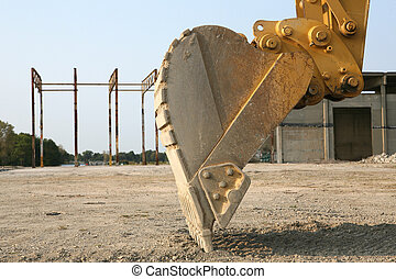 Up Close With a Back Hoe - Back Hoe, up Close at...