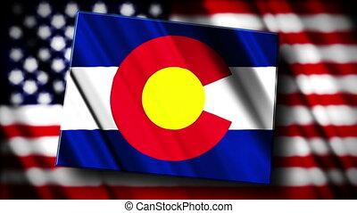 Colorado 03 - Flag of Colorado in the shape of Colorado...