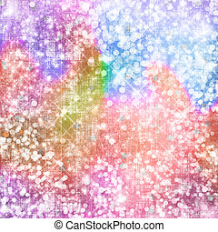 Abstract snowy background with snowflakes, stars and fun...