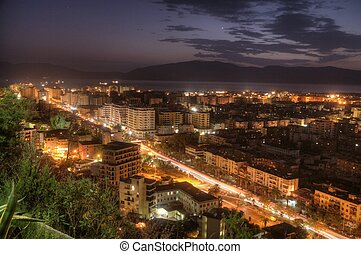 nocturnal view of Valona - A wide nocturna shot of the city...