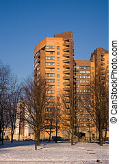 It is someone\\\'s house - Brick many-storeyed building...