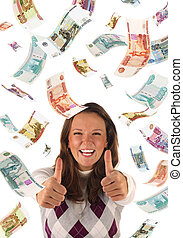 Successful investment (roubles banknotes)