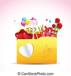 Love Folder - illustration of love item in folder on...