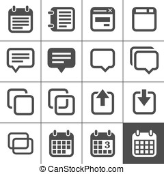 Notes, memos and plans icons - Notes and Memos Icons Simplus...