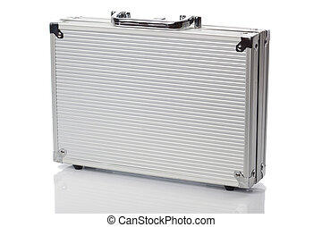 Silver case standing - Lock protected case from aluminum,...