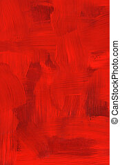 Crimson oil painting - Abstract crimson oil painting. Highly...