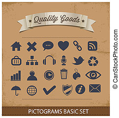premium and simple pictograms set isolated