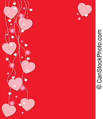 Valentines card with hanging heart
