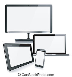 Computer Devices - Set of Computer Devices - Monitor,...