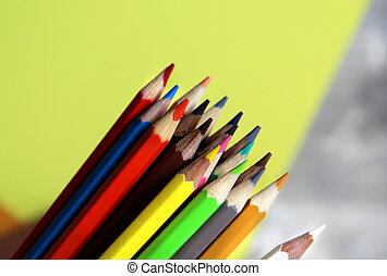 Multicolored pencils - Mix of multicolored vivid pencils