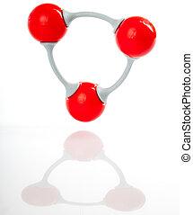 Molecule model of ozone O3 - Molecule of ozone, molecular...