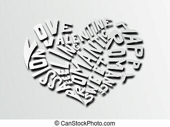Hearth love concept background