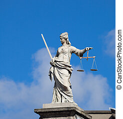 Lady Justice (Justitia) statue in Dublin - Statue of Lady...