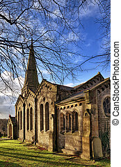View of Christ Church in Chatburn, Lancashire. - A view of...