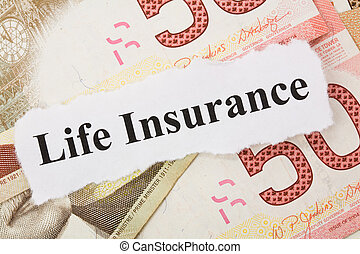 Life Insurance - Headline of Life Insurance for background
