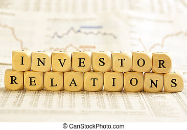 Letter Dices Concept: Investor Relations - Concept of dices...