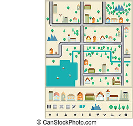 City builder vector elements