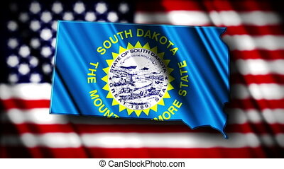 South Dakota 03 - Flag of South Dakota in the shape of South...